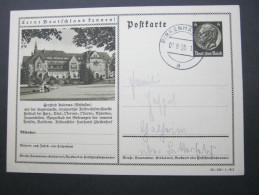6 Pfg. Hindenburg, Bildganzsache Verschickt Mit Stempel - Entiers Postaux