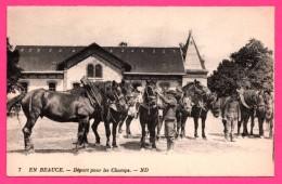 En Beauce - Départ Pour Les Champs - Chevaux - Animée - ND PHOT. - NEURDEIN FRERES - France