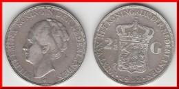 **** PAYS-BAS - NETHERLANDS - 2 1/2 GULDEN 1932 WILHELMINA - ARGENT - SILVER **** EN ACHAT IMMEDIAT - [ 3] 1815-… : Royaume Des Pays-Bas