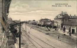 Cp Michalovce Großmichel Slowakei, Hlavna Ulica, Fö Utca, Hauptstraße - Slovaquie