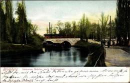 Cp Bydgoszcz Bromberg Westpreußen, Steinerne Brücke Nach Schleusenau - Westpreussen