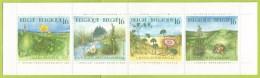 Belgique 1994 2572 à 2575 B 25 ** Carnet Plié Nature Plantes Populage Céphalanthère Liseron Des Dunes Orchidée Phare - Carnet 1953-....