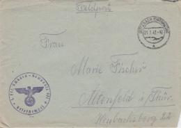 Feldpost WW2: Infanterie Ersatz Bataillon 474 P/m Butzbach 21.7.1942 - Letter Inside  (G84-18) - Militaria