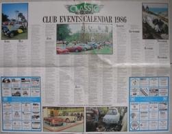CALENDARIO 1986 - CLASSIC AND SPORTS CAR - CLUB EVENTS CALENDAR - Calendari