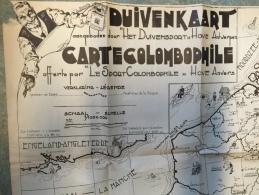 16D - Carte Colombophile Suive Kart Offerte Par Le Sport Colombophile Hove Anvers - Non Classés