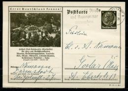 """German Empires,DR 1937 Ganzsache Mi.Nr.P236/37-91-1-B8 """"Lernt Deutschland Kennen !-Bad Salzhausen,Oberhessen""""1 GS Used - Allemagne"""