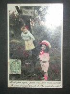 Ref5130 Carte Photo Colorisée Humoristique Bébé à Vendre Et Fillette - Jeu D'enfant - ELD 4119 - Humor