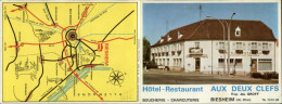 68 - BIESHEIM - Dépliant Publicitaire Hotel Restaurant Aux Deux Clefs - Tourism Brochures
