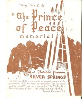 My Visit To The Prince Of Peace Memorial At Florida's Famous Silver Springs - Tourism Brochures