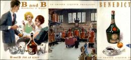 ALCOOL - BENEDICTINE - Dépliant (3 Volets) Publicitaire - Liqueur - Publicités