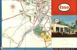 CARTES - PUBLICITE ESSO - Carte De Bruxelles  - Expo Universelle 1958 - Pompe à Essence - Maps