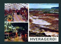 ICELAND  -  Hveragerdi  Multi View  Unused Postcard - Iceland