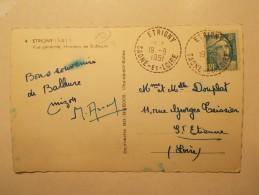 Marcophilie - Lettre Enveloppe Cachet Timbres Oblitération - FRANCE -  ETRIGNY 1951 (153) - Covers & Documents