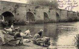 78 LIMAY Le Vieux Pont  Animée,Laveuses - Limay
