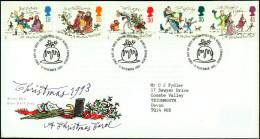 THE CHRISTMAS CAROLS- CHRISTMAS 1993-FDC-GB-1993-BX1-278 - Christmas