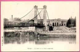 GRAY - La Gare Et Le Pont Suspendu - Gray