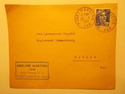 Marcophilie - Lettre Enveloppe Cachet Timbres Oblitération - FRANCE - PUGET S/ARGENS 1953 (168) - Lettres & Documents