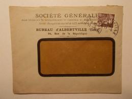 Marcophilie - Lettre Enveloppe Cachet Timbres Oblitération - FRANCE - ALBERTVILLE (169) - Lettres & Documents