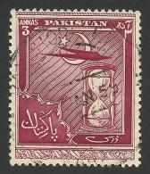 Pakistan, 3 A. 1951, Sc # 56, Mi # 56, Used - Pakistan