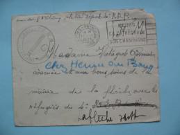 Franchise Militaire - Enveloppe Du 12 Septembre 1939 - 1939-44 Iris