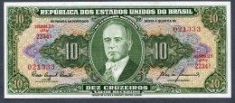 Brésil P 159f 10 Cruzeiros 1960  C081 *** UNC *** Série 2234 N° 021333 - Brasilien