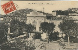 Gard : Alès, Le Theatre Et Le Mont De L'Ermitage - Alès