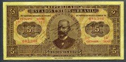 Brésil P 27  5 Mil Reis 1922  R 098 *** XF *** Série 12 N° 085,206 Très RARE !!! - Brésil