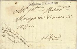 1839- Royaume De Sardaigne - Comté De NICE - Lettre De S.Martino Di Lantosca - Marcophilie (Lettres)