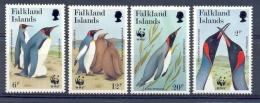 Naa117s WWF VOGELS PINGUINS BIRDS PENGUINS VÖGEL AVES OISEAUX FALKLAND ISLANDS 1991 PF/MNH - W.W.F.