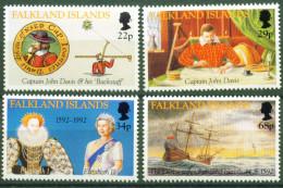 Falkland, 1992, 565/68, 100. Jahrestag Der Entdeckung Der Falklandinseln, MNH, - Falkland