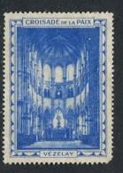 "Croisade De La Paix Vezelay Poster Stamp Vignette Label No Gum 1 3/8 X 1 7/8"" - Cinderellas"