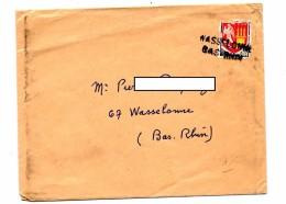 Lettre Cachet Annulation Wasselonne - Marcophilie (Lettres)