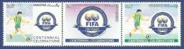 PAKISTAN 2004 MNH SE-TENANT CENTENNIAL CELEBRATION OF FIFA FOOTBALL SOCCER SPORT SPORTS - Pakistan