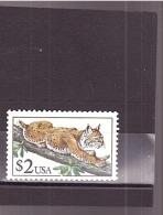 """1903   OBL   Y&T  Faune Animaux Félin  """"Lynx""""  *ETATS UNIS D'AMERIQUE*    58/33 - Etats-Unis"""