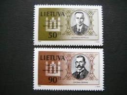 Lietuva Litauen Lituanie Litouwen Lithuania 1998 MNH # Mi. 658/9 National Day.Persons. Famous People - Lithuania