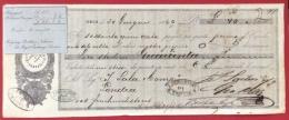LOMBARDO VENETO 1869  CAMBIALE Lire Sterline 40 -  LOGO  E AUTOGRAFO DI PIETRO SARTORI - Cambiali