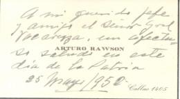 GENERAL ARTURO RAWSON PRESIDENTE DE LA REPUBLICA ARGENTINA LO SALUDA EN EL DIA DE LA PATRIA EN 1952 AL GENERAL JUAN ESTE - Documents Historiques