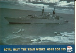 Royal Navy Et Royal Marines-carte Pub-carte Double - Patrióticos
