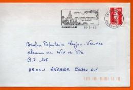 49 CHEMILLE     SES PLANTES MEDICINALES 15 / 3 / 1993 Lettre Entière 110x220 N° W 515 - Marcophilie (Lettres)