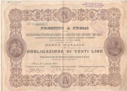 Obbligazioni Obbligazione Da Lire 20 Soc. Dante Alighieri 1905 - Azioni & Titoli