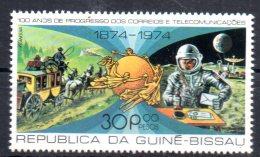 GUINEE BISSAU    N° 54 * *  ( Cote 2.40e )  Upu  Poste  Satellite Telecommunication Dilligene Astronaute Lune - Espace
