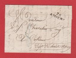 Lettre De Amiens  --  Pour Colmar  --  4 Fevrier 1826 - Storia Postale