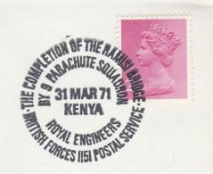 1971 BRITISH FORCES In KENYA COVER  Royal Engineers RAMSI BRIDGE Gb Stamps - Kenya (1963-...)