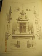 PLANCHE N°5  TRAVAUX D'ARCHITECTURE  HOTEL DE MR LE COMTE VR DE MARNIX RUE DE LA LOI, 99 A BRUXELLES  Grande Lucarne - Architecture