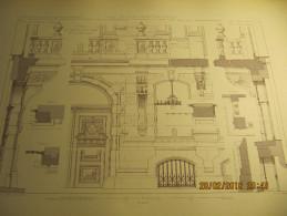 PLANCHE N°3  TRAVAUX D'ARCHITECTURE  HOTEL DE MR LE COMTE VR DE MARNIX RUE DE LA LOI, 99 A BRUXELLES  Détails Du Rez-de- - Architecture