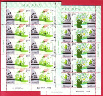 MOLDOVA 2 SHEETLETS EUROPA CEPT GREEN PLANET 2016 - Moldavie