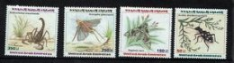 UAE 1999 Insects Stamp Group 2 Grasshopper Scorpion Moths Stamps 4 Full - New York -  VN Hauptquartier