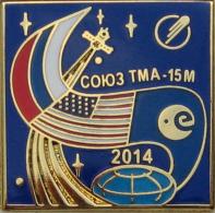 "68 Space Soviet Russia Pin. Soyuz TMA-15M.Corporation ""Energia"" Russia-USA-ESA - Space"
