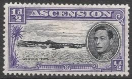 Ascension. 1938-53 KGVI. ½d MH P13. SG 38b - Ascension