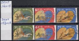 Holanda 1990 Nº 1362/64 Dent.-13 1/2 Por 14 + 1362/64 Dent.- 14 Por 13 Usado - 1980-... (Beatrix)